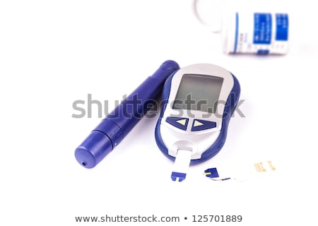 Health examination. Glucometer and test for diabetes Stock photo © simpson33