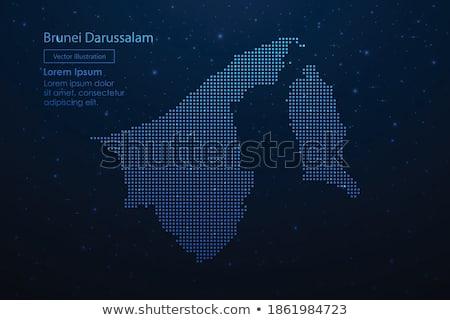 карта Бруней точка шаблон вектора изображение Сток-фото © Istanbul2009