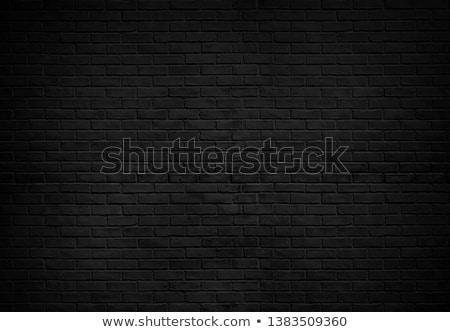 Fekete téglafal gradiens háló otthon belső Stock fotó © adamson