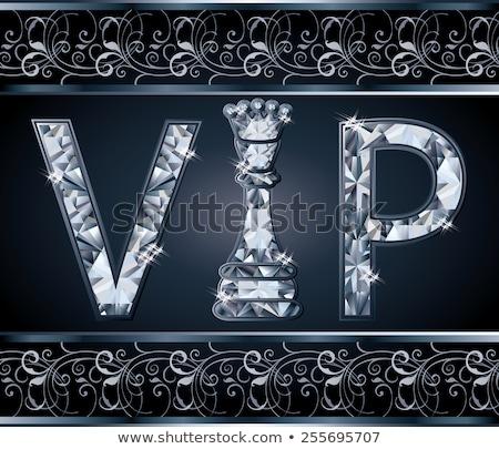 diamond vip chess present card vector illustration stock photo © carodi
