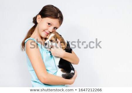 Girl and Puppy Stock photo © tilo