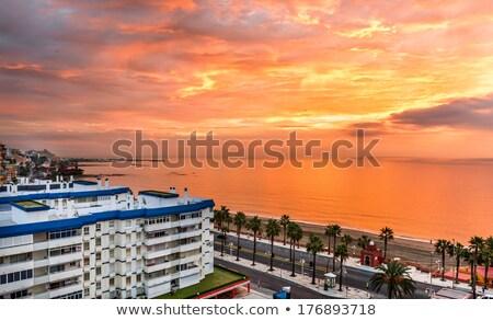 красивой закат города малага Испания Сток-фото © amok