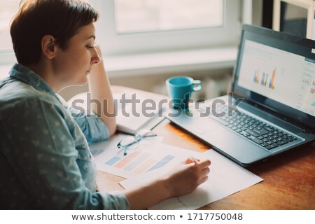 Female accountant with digital tablet stock photo © franky242