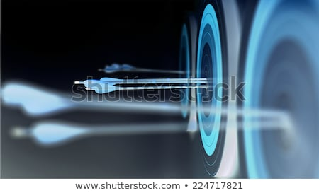 Creativity - Arrows Hit in Red Target. Stock photo © tashatuvango