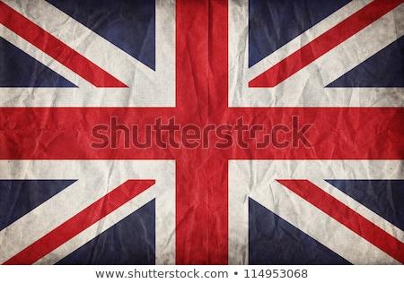 öreg grunge brit zászló brit zászló közelkép kép Stock fotó © IvicaNS