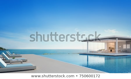 Housing estate on sea background. Stock photo © Leonardi