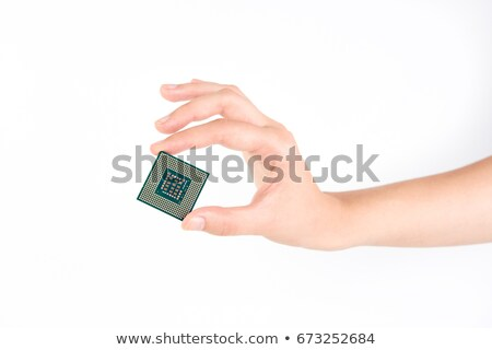 Stock photo: microprocessor in human hand