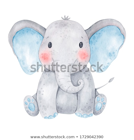 Bebek fil yüz inek siyah genç Stok fotoğraf © art9858