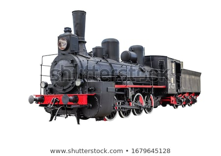 Wheels of an old steam locomotive Stock photo © remik44992