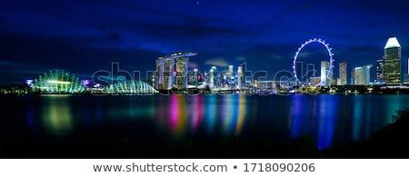 Singapour nuit nouvelle marina casino hôtel Photo stock © ldambies