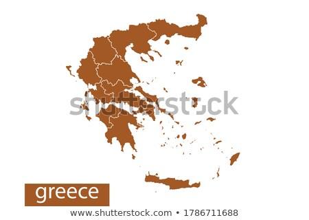 оранжевый кнопки изображение карт Греция форме Сток-фото © mayboro