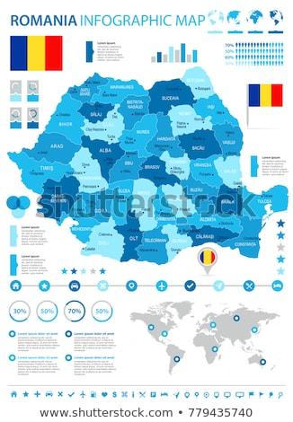 élevé détaillée vecteur carte Roumanie navigation Photo stock © tkacchuk