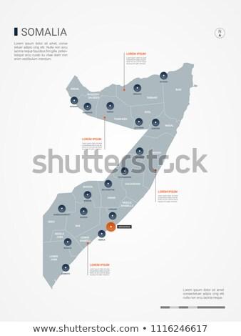 orange button with the image maps of somalia stock photo © mayboro
