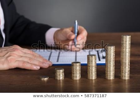 Doradca finansowy oferty pracy gazety pracy klienta Zdjęcia stock © tashatuvango