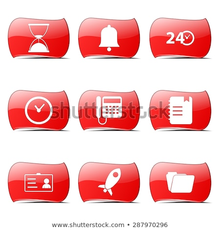 Time Duration Red Vector ButtonIcon Design Set Stock photo © rizwanali3d