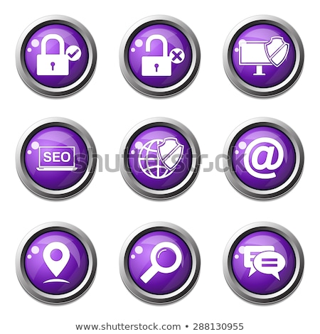 seo internet sign violet vector button icon design set 3 stock photo © rizwanali3d