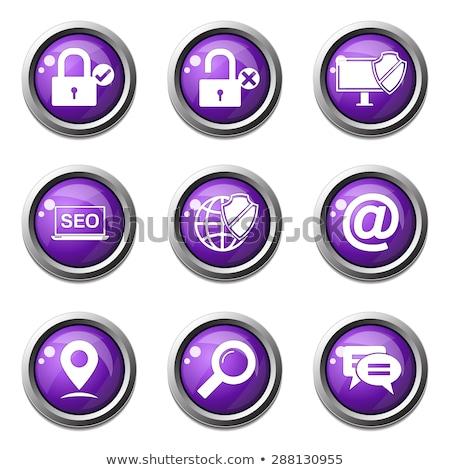 SEO Internet Sign Violet Vector Button Icon Design Set 3 Stock photo © rizwanali3d