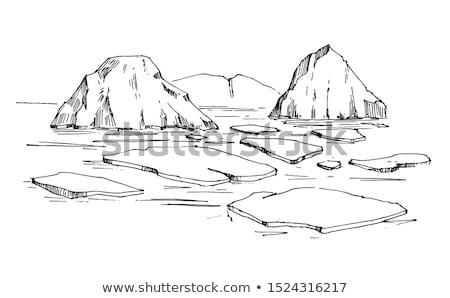 Gletsjer sneeuw mooie winter onderzoek water Stockfoto © goinyk