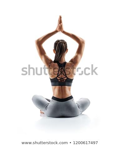 Yoga pose isolated on white background Stock photo © Istanbul2009