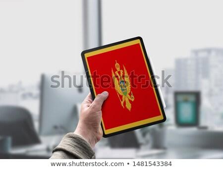 Черногория · флаг · сфере · изолированный · белый · графика - Сток-фото © tang90246