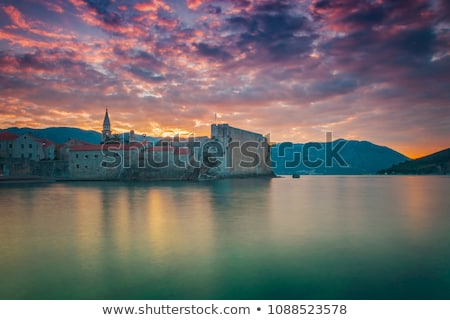 Stock photo: Morning in Old Town of Budva. Montenegro, Balkans, Europe