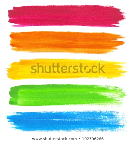 Green acrylic painted vector brush stroke set Stock photo © gladiolus
