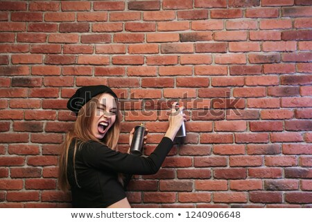 graffiti · aerosol · pueden · imagen · público · pared - foto stock © adrenalina