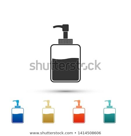szín · sampon · üvegek · izolált · fehér · haj - stock fotó © tetkoren