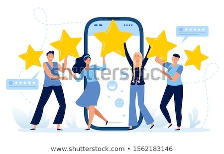feedback · objetivo · verde · flechas · servicio · comercialización - foto stock © fuzzbones0