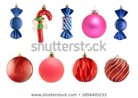 Ayarlamak Noel oyuncaklar süslemeleri yalıtılmış beyaz Stok fotoğraf © kirs-ua