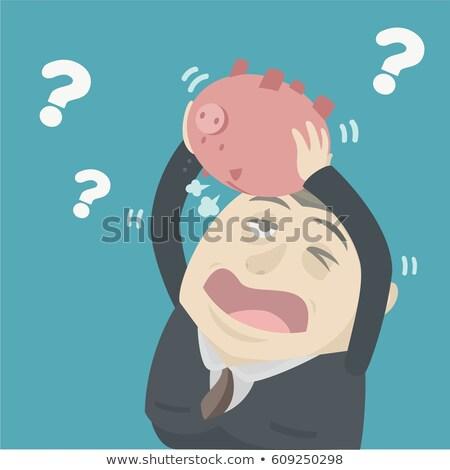 üzletember pénz férfi munka bank cég Stock fotó © alphaspirit