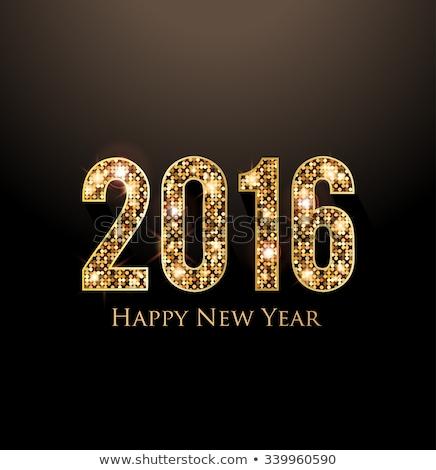 Zdjęcia stock: Diamond 2016 New Year Banner Vector Illustration