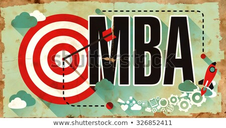Parola grunge poster design maestro business Foto d'archivio © tashatuvango