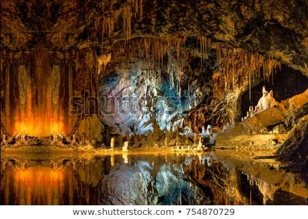 Barlang földalatti barlang mágikus fény fal Stock fotó © lunamarina