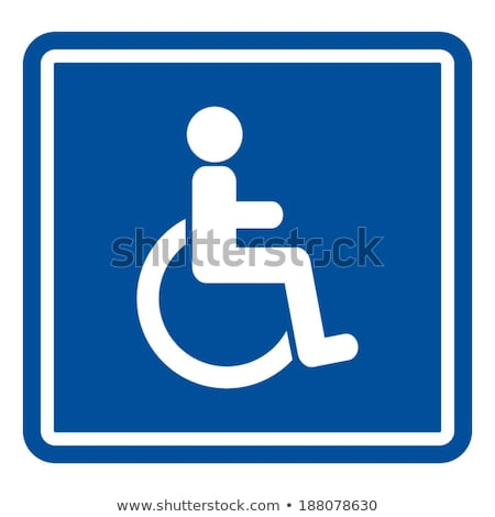 Wheel Chair Blue Vector Icon Button Stock photo © rizwanali3d