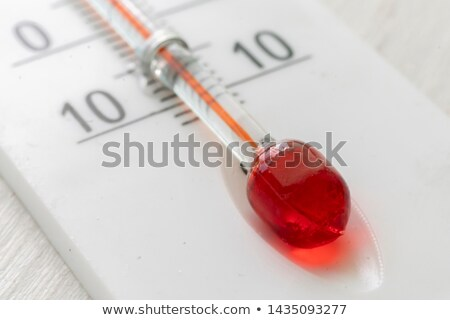 extreme close up of thermometer stock photo © 350jb