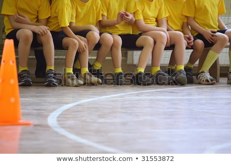 kinderen · bal · mooi · meisje · jongen · spelen · groot - stockfoto © paha_l