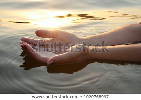 Female hand with seashell on seacoast Stock photo © Paha_L