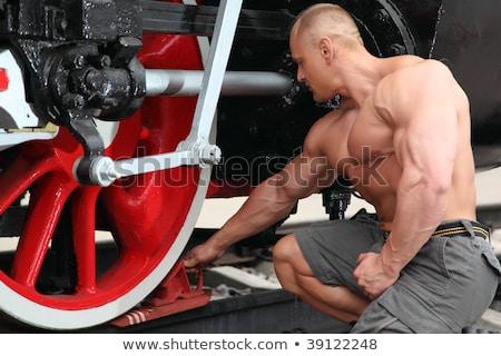 Atleta freno boot locomotiva ruota metal Foto d'archivio © Paha_L