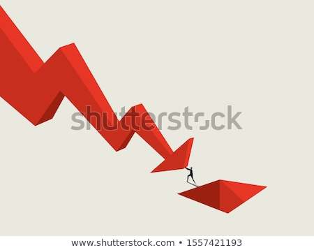 Falling Bear Market Crisis Stock photo © Lightsource
