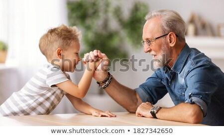 Junge Großvater Ringen Mann Sitzung Sport Stock foto © Paha_L