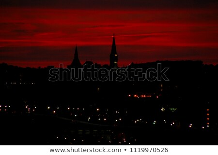 beautiful evening sunlit sky over the atlantic Stock photo © morrbyte