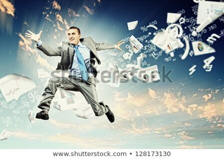 üzletember · nyerő · pénz · boldog · új · milliomos - stock fotó © paha_l