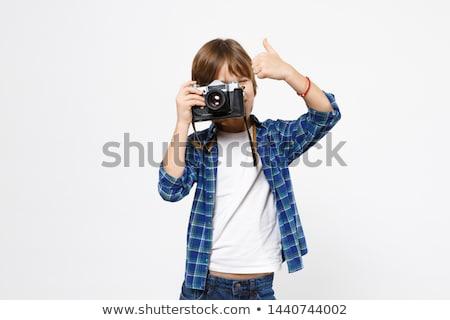 nino · cámara · ordenador · nino · tecnología · fondo - foto stock © Paha_L