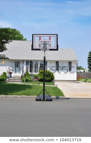 Basketball hoop with backboard in residential district Stock photo © stevanovicigor