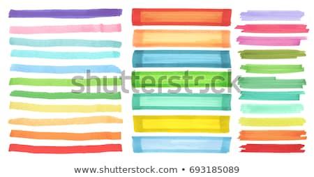 Kolorowy wyróżnienia ilustracja biały pióro sztuki Zdjęcia stock © get4net