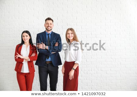 Business Strategy on White Brick Wall. Stock photo © tashatuvango