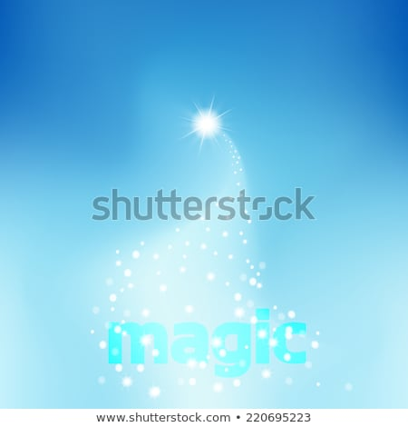 Night sky. Star drops in night sky make wish Stock photo © orensila