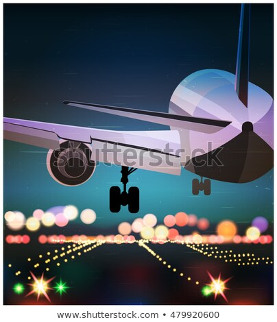 big civil aircraft old poster Stock photo © tracer