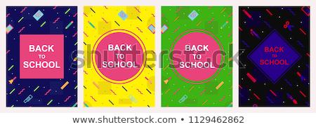 Foto stock: Conjunto · bem-vindo · de · volta · à · escola · modelo · eps · 10